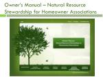 owner s manual natural resource stewardship for homeowner associations