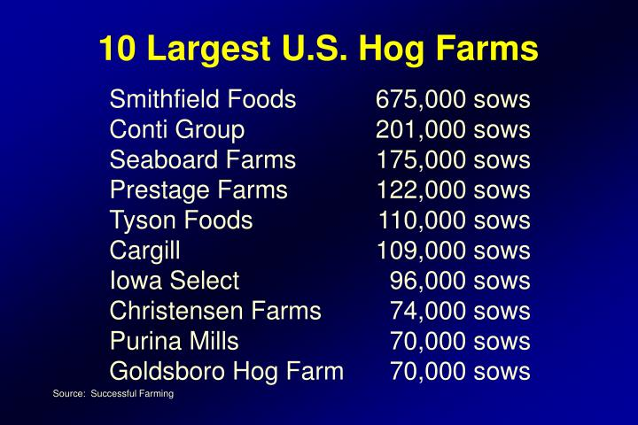 10 Largest U.S. Hog Farms