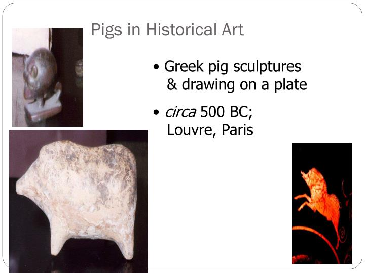 Pigs in Historical Art