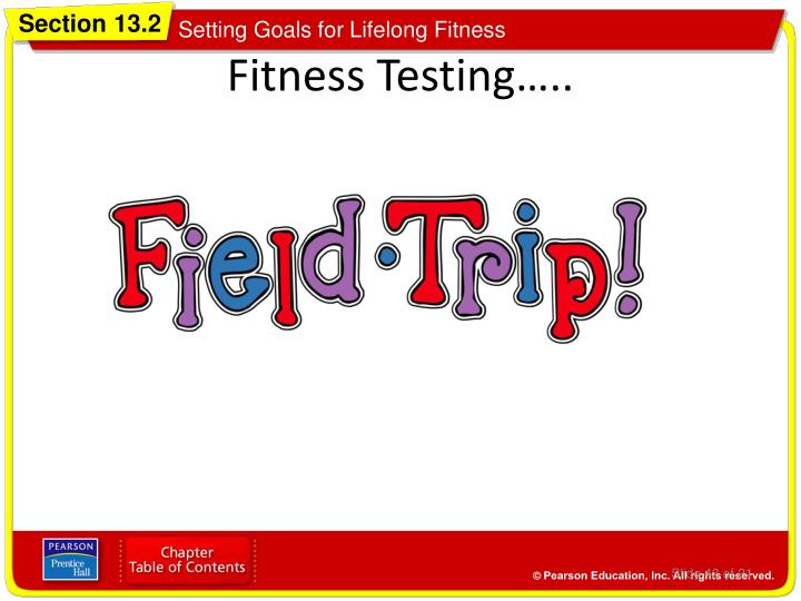 Fitness Testing…..