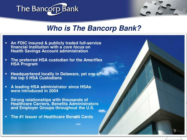 Who is the bancorp bank