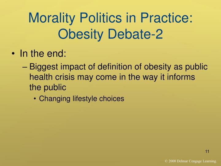Morality Politics in Practice: