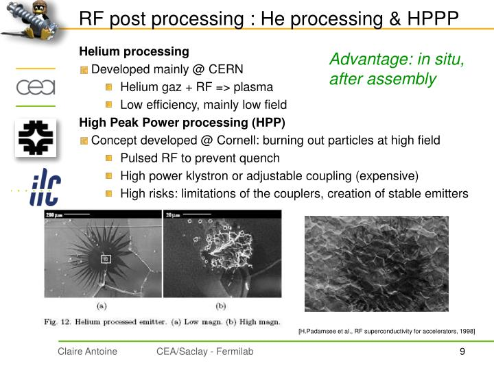 RF post processing : He processing & HPPP