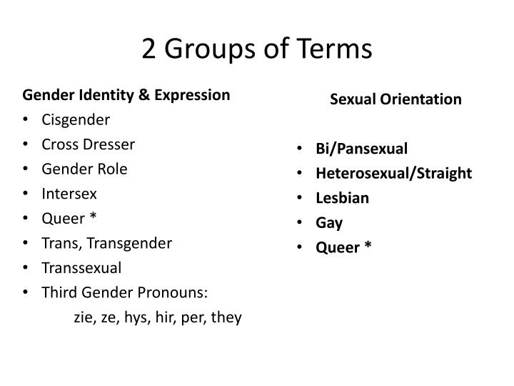 2 Groups of Terms