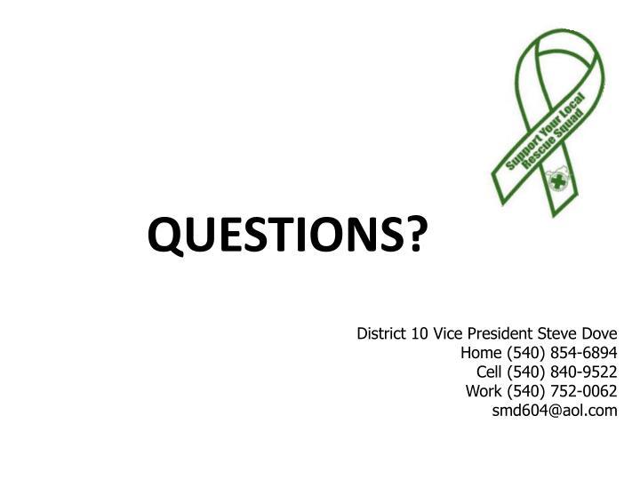 District 10 Vice President Steve Dove