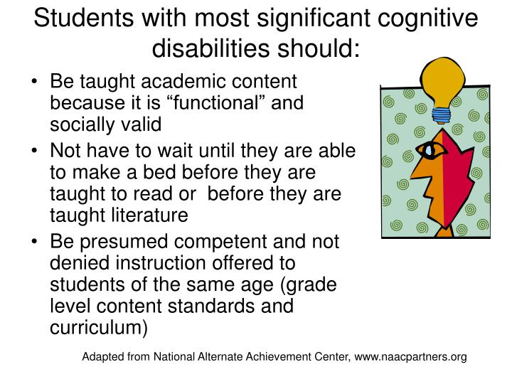 significant cognitive disabilities Assessment of students with significant cognitive disabilities dynamic  learning maps (dlm) & national center and state collaborative alan sheinker , dlm.