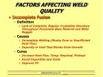 factors affecting weld quality8