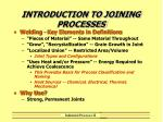 introduction to joining processes1