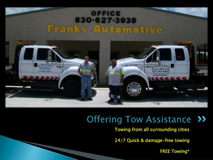 Offering Tow Assistance