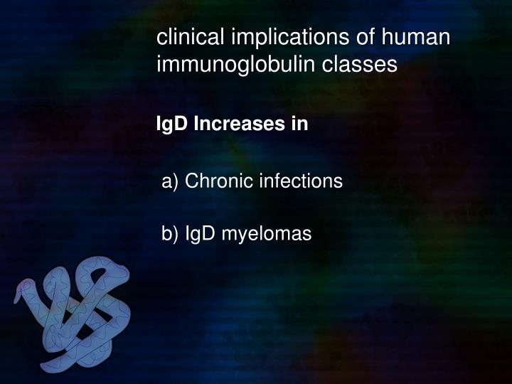 clinical implications of human immunoglobulin classes