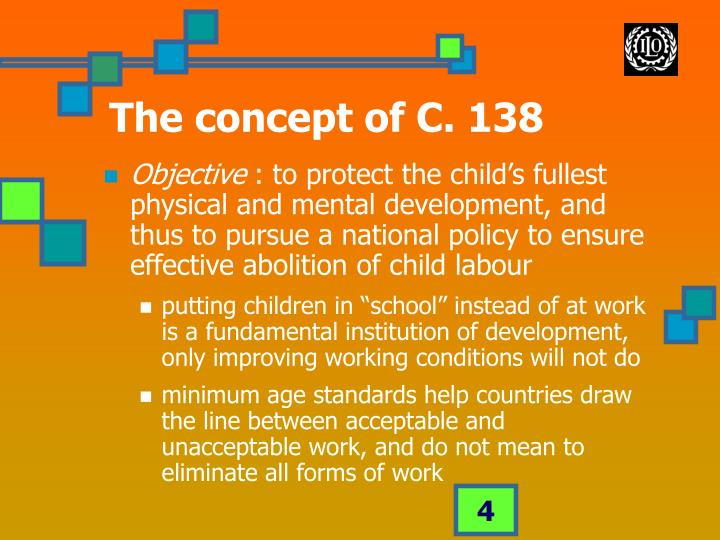 The concept of C. 138