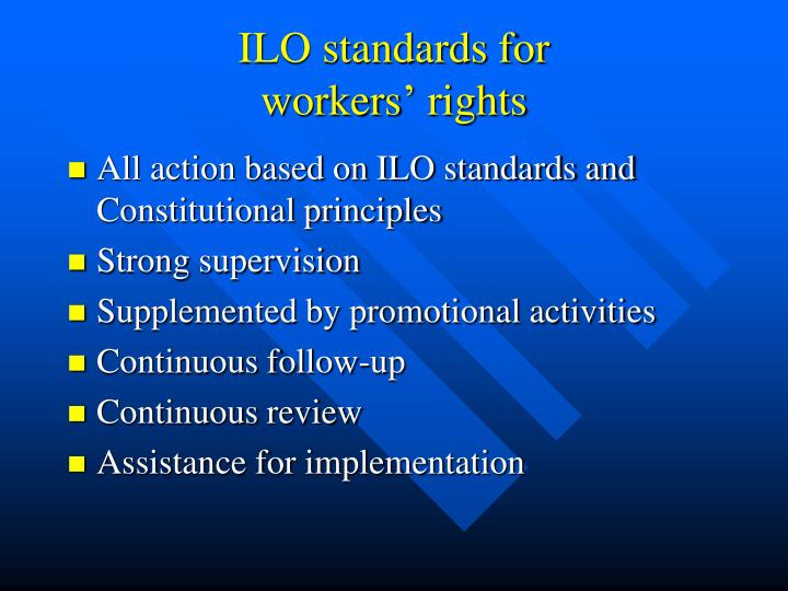 ILO standards for