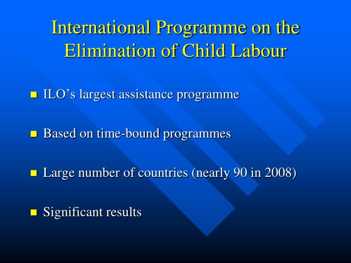 International Programme on the Elimination of Child Labour