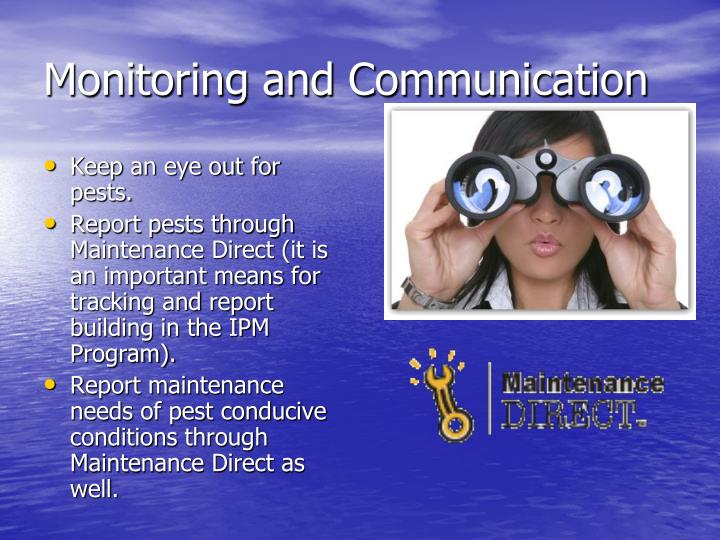 Monitoring and Communication
