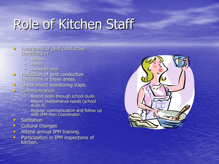 Role of Kitchen Staff