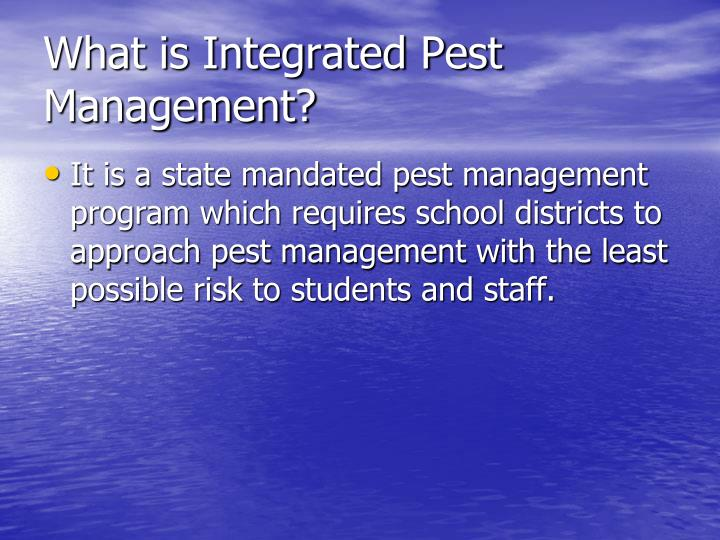 What is Integrated Pest Management?