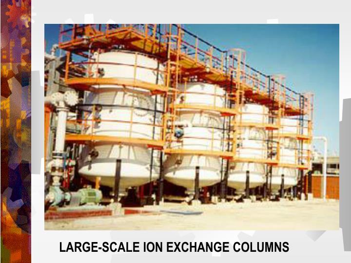 LARGE-SCALE ION EXCHANGE COLUMNS