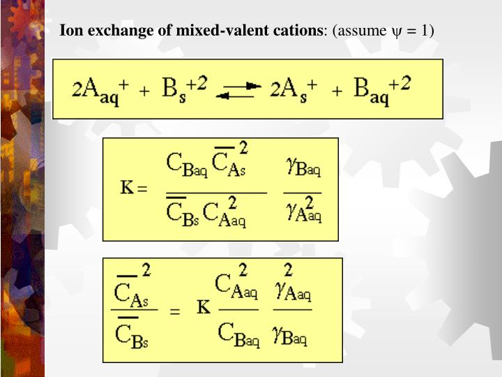 Ion exchange of mixed-valent cations