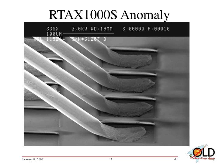 RTAX1000S Anomaly