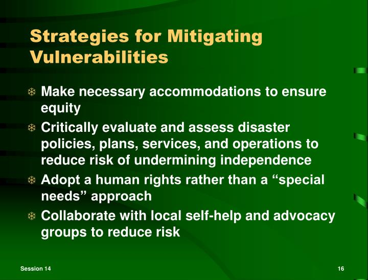 Strategies for Mitigating Vulnerabilities
