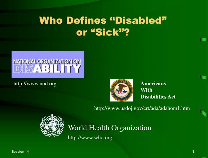 "Who Defines ""Disabled"""