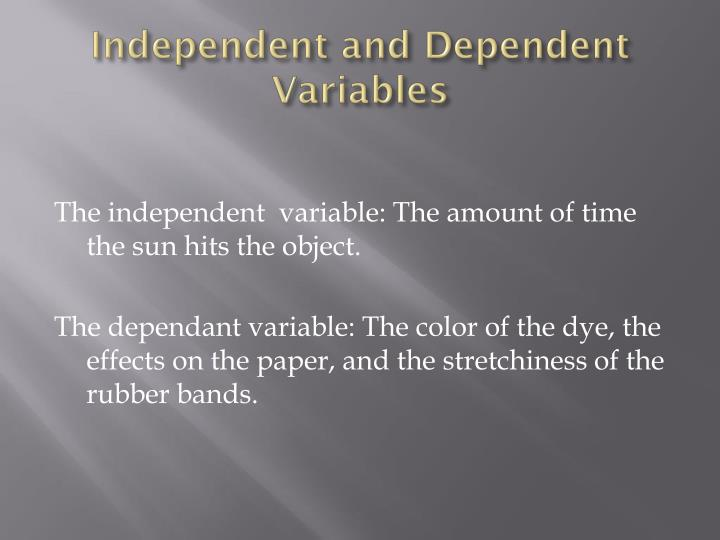 Ppt What Effects Does The Sunlight Have On Rubber Ink