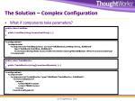 the solution complex configuration
