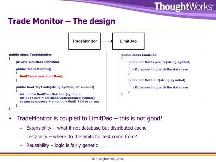 Trade Monitor – The design