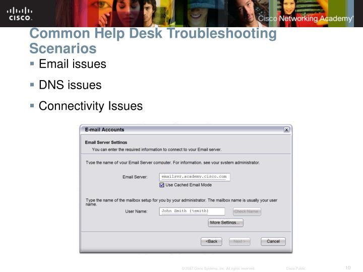Common Help Desk Troubleshooting Scenarios