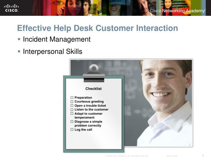 Effective Help Desk Customer Interaction