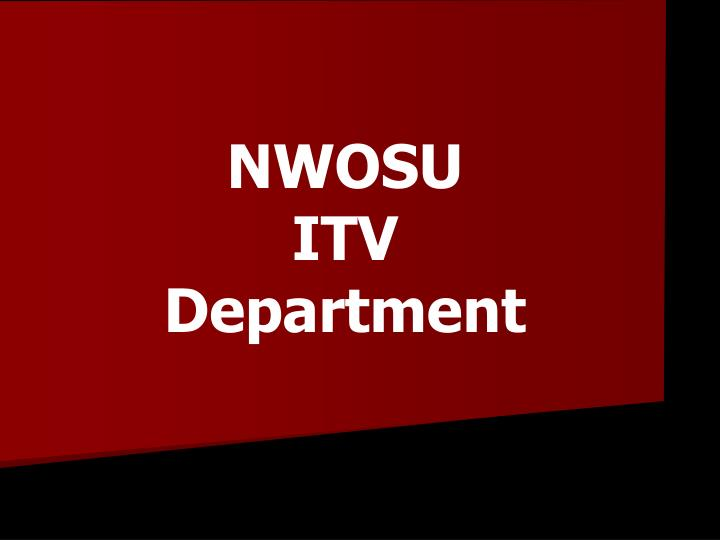Nwosu itv department