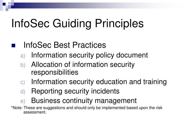 InfoSec Guiding Principles