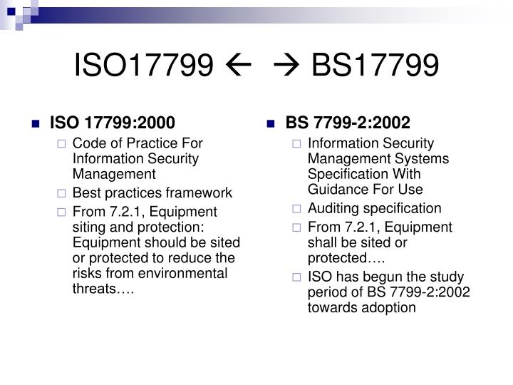 ISO 17799:2000