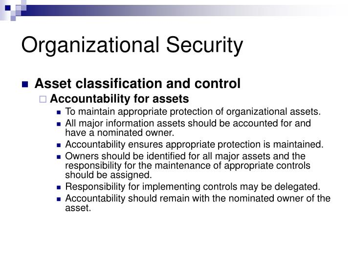 Organizational Security