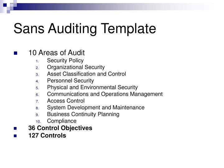 Sans Auditing Template