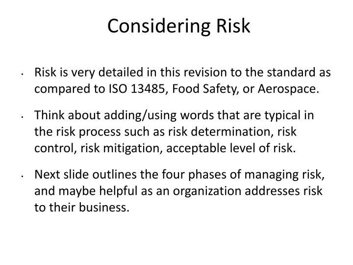Considering Risk
