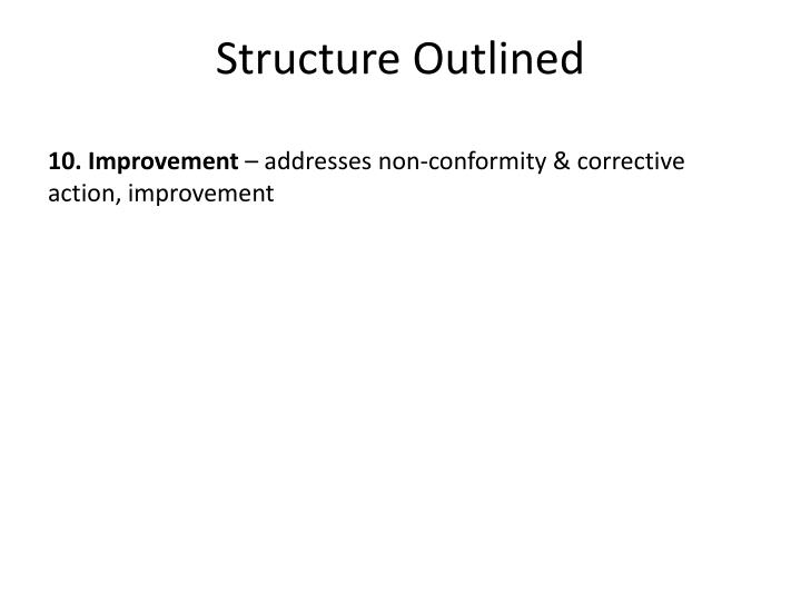 Structure Outlined