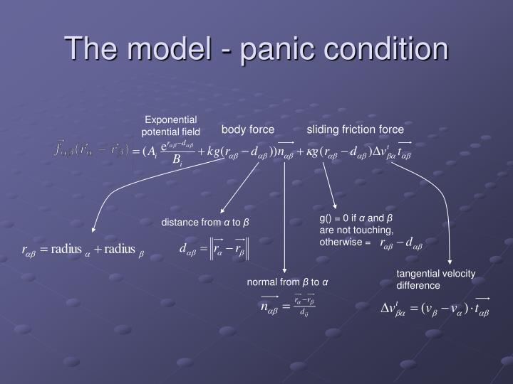 The model - panic condition