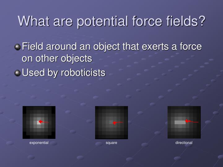 What are potential force fields?