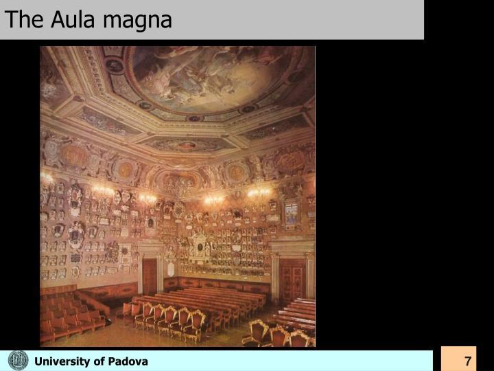 The Aula magna