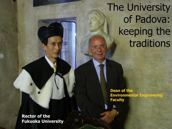 The University of Padova: