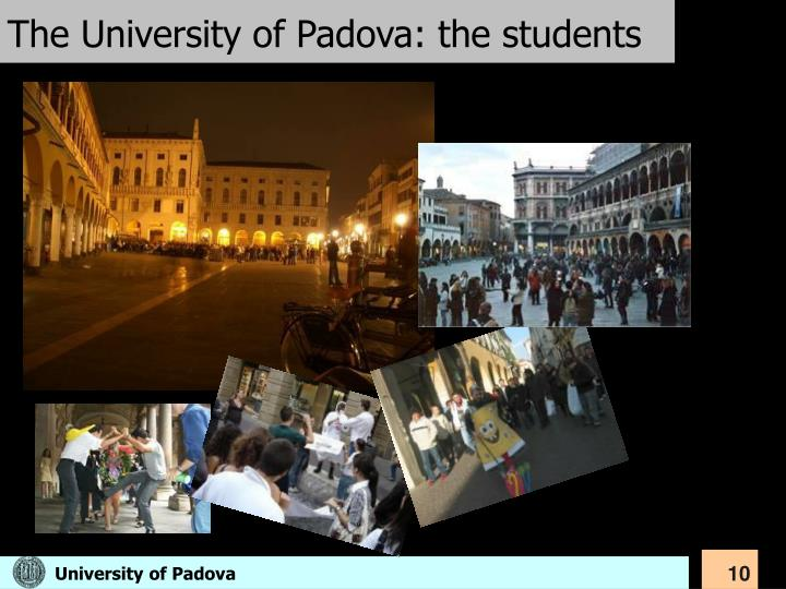 The University of Padova: the students