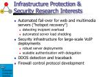 infrastructure protection security research interests