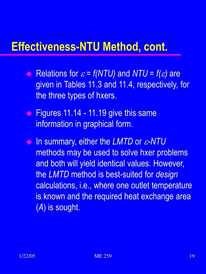 Effectiveness-NTU Method, cont.