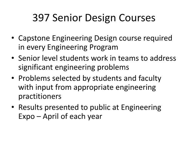 397 Senior Design Courses