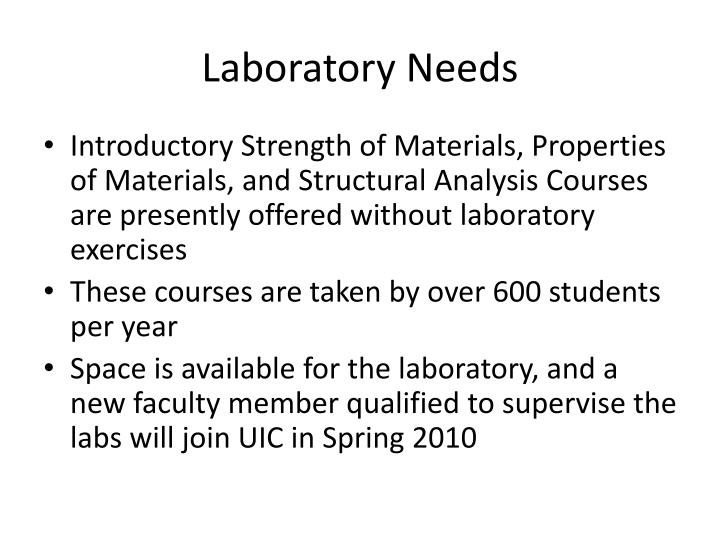 Laboratory Needs