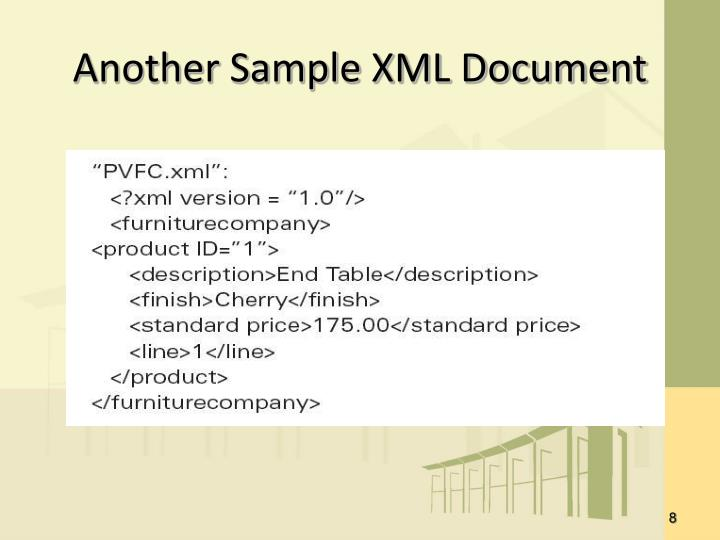 Another Sample XML Document