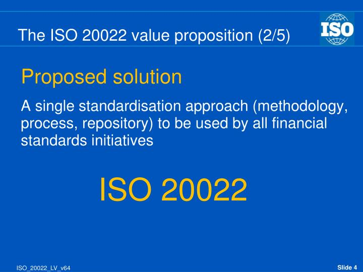 The ISO 20022 value proposition (2/5)
