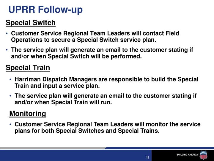 UPRR Follow-up