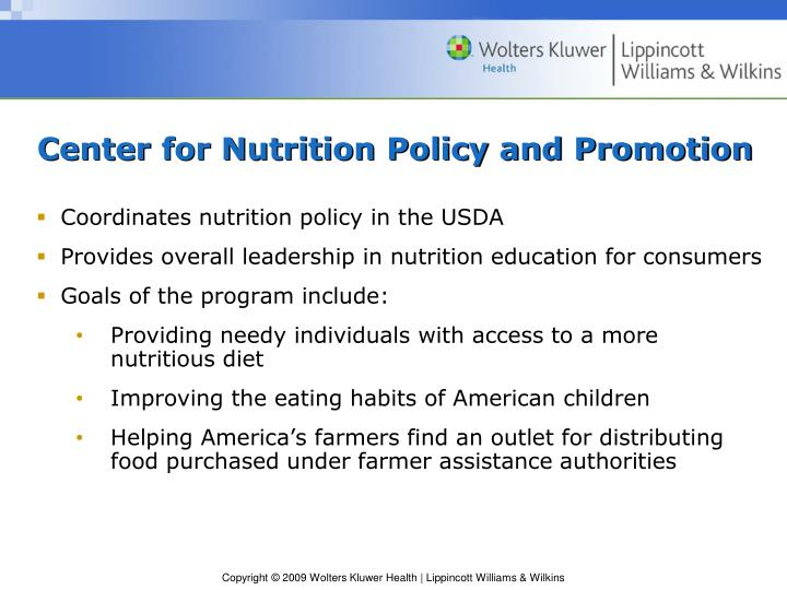 Center for Nutrition Policy and Promotion